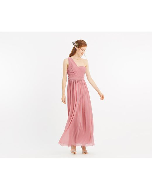 Lyst Oasis One Shoulder Maxi Dress In Pink