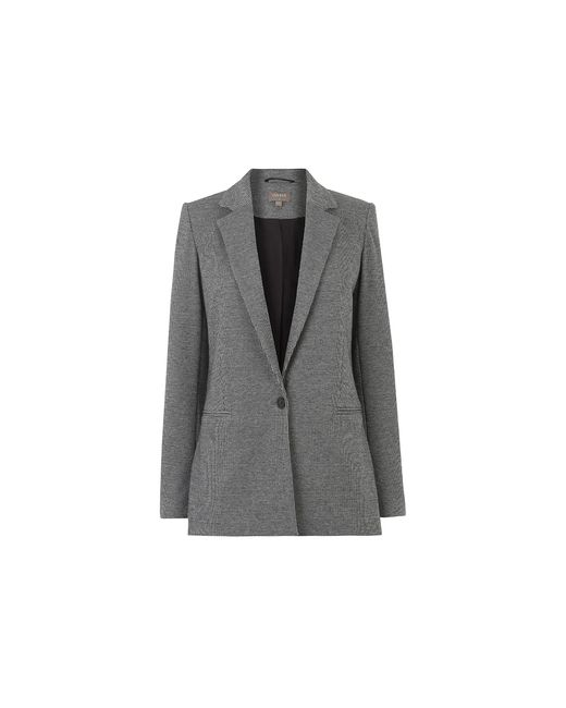 Oasis Gray Puppytooth Ponte Jacket