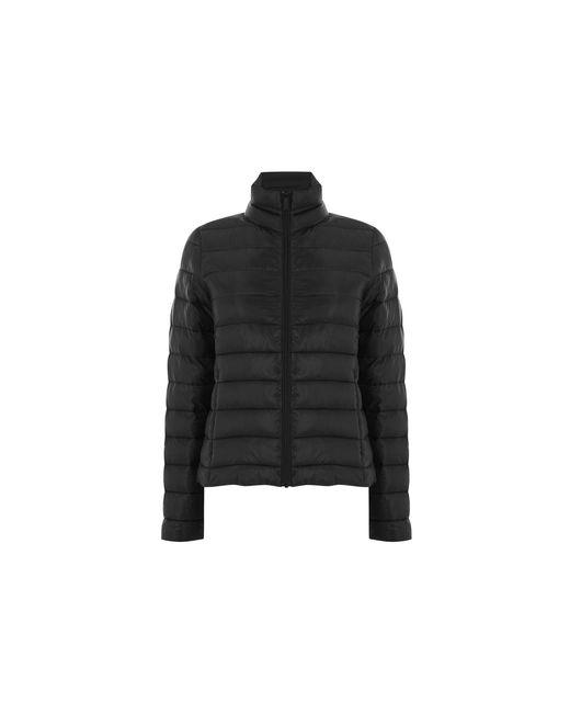 Oasis Black Packaway Puffer Coat