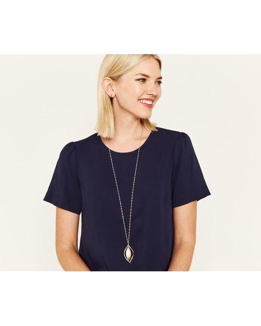 Oasis - Multicolor Outline Sleek Necklace - Lyst