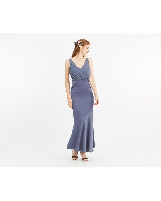 1599b207acf Oasis - Multicolor Slinky Bow Maxi Dress  - Lyst ...