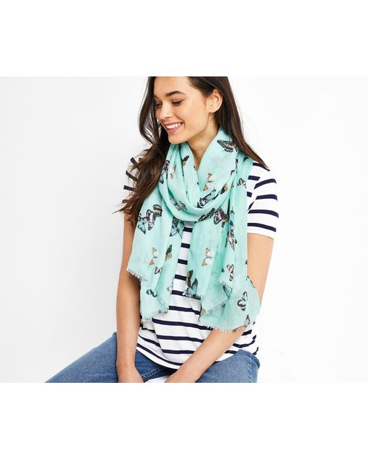 Oasis | Blue Butterfly Print Scarf | Lyst