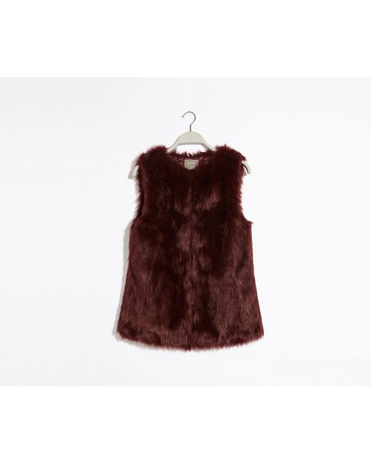 Oasis Brown Faux Fur Gilet