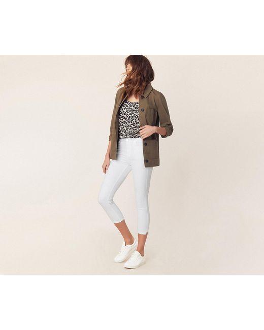 b4616900d081 ... Oasis - White Grace Capri Trousers - Lyst ...