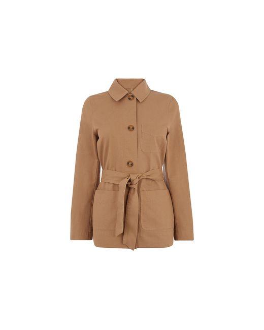 Oasis Brown Belted Utility Jacket