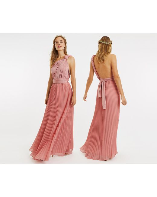 f6b858b8d27 Oasis Pale Pink Wear It Your Way Pleated Maxi Dress in Pink - Save ...