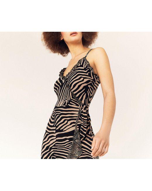 c7846e514ee6 ... Oasis - Black Tiger Wrap Cami Dress - Lyst