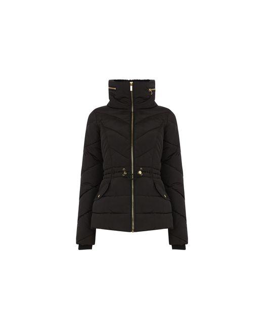 Oasis Black Luxe Short Padded Jacket