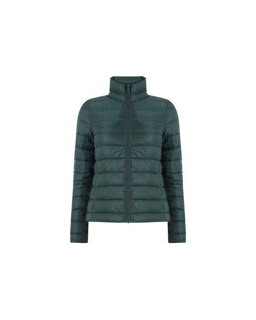 Oasis Green Packaway Puffer Coat