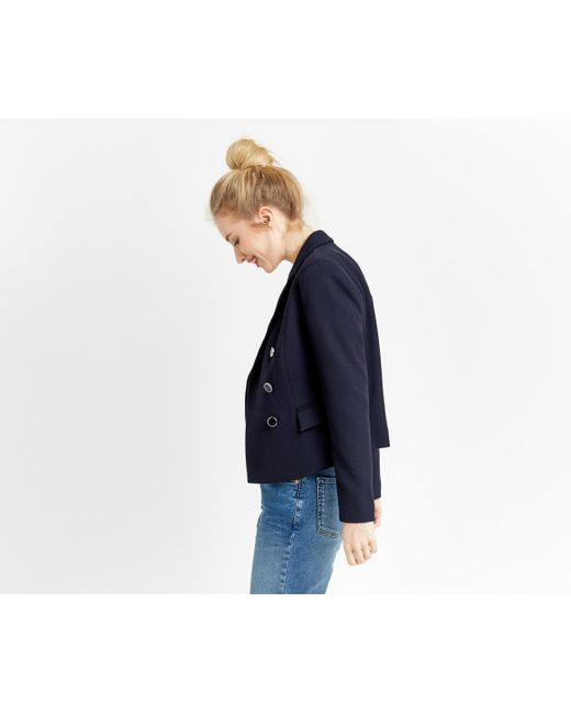 Oasis | Blue Double Breasted Jacket | Lyst