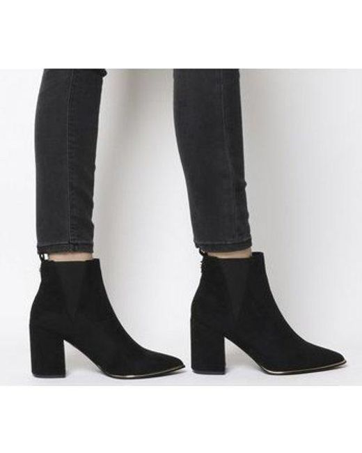 a1f91e8222f Women's Black Amazing- Block Heel Point Ankle Boot 2