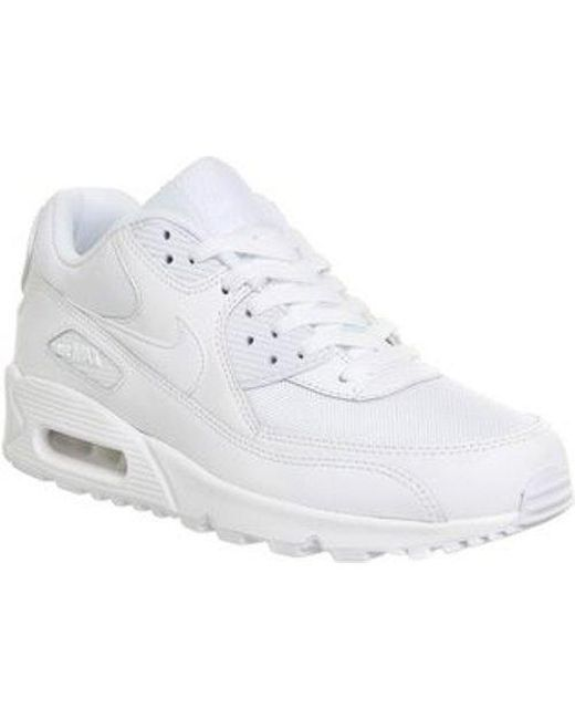 best website d394a 81059 Men's White Air Max 90