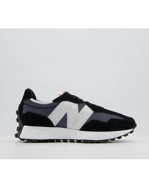 New Balance Black 327 Trainers for men