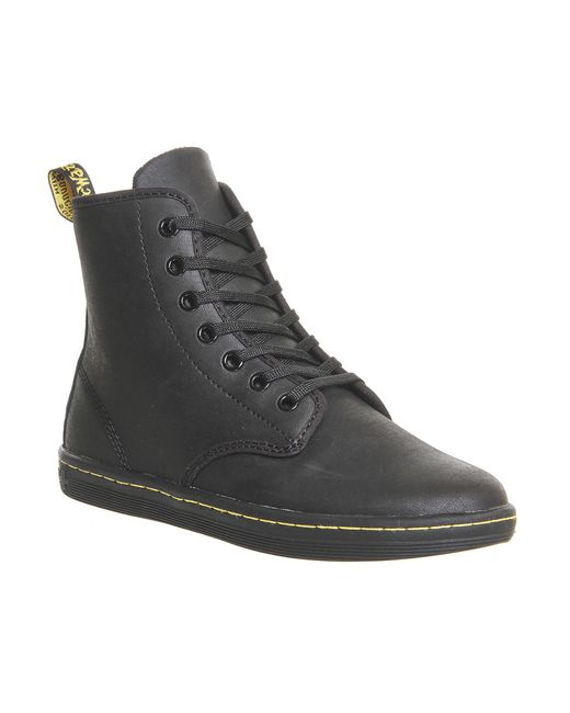 Dr. Martens   Black Eclectic Shoreditch 7 Eye Boots   Lyst