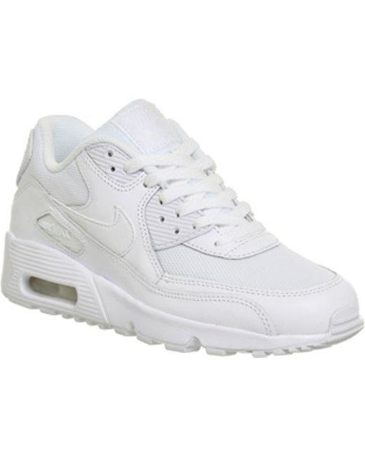 huge discount e7a56 44351 Nike - White Air Max 90 Trainers - Lyst