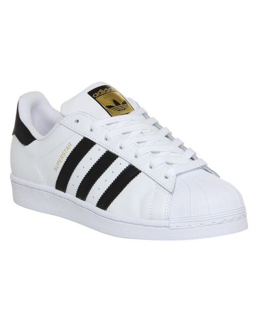 Adidas Originals | Superstar White And Black Trainers | Lyst
