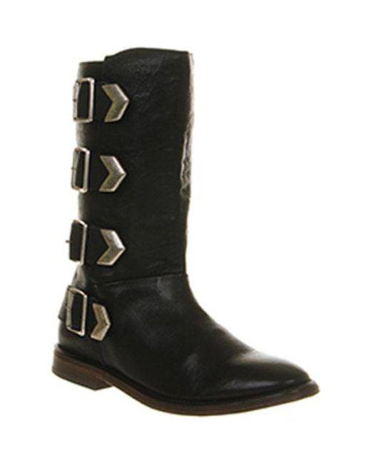 H by Hudson - Black Hudson London Lock Tall Buckle Boots - Lyst