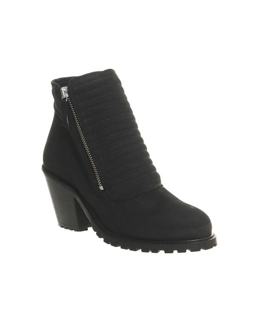 Office   Black Ignite Padded Front Ankle Boots   Lyst