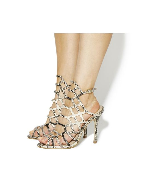 Office | Natural Trance Caged Heels | Lyst