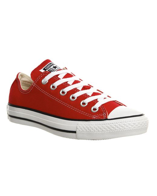 Converse | Red Converse All Star Ox Plimsolls for Men | Lyst