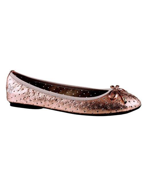 Butterfly Twists | Metallic Vivienne Foldable Ballerina Pumps | Lyst