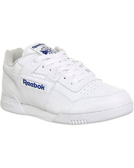 Lyst - Reebok Workout Plus in White for Men c386f0a19