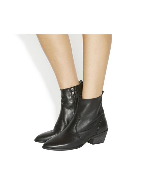 Office   Black Leighton Unlined Western Boots   Lyst