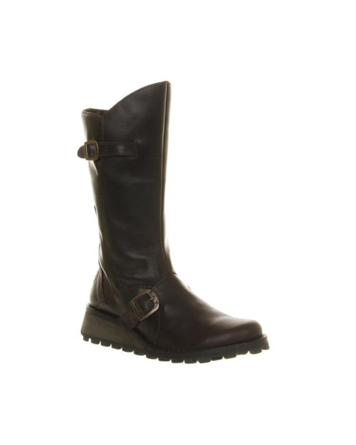 Fly London | Brown Fly Mes Wedge Calf Boots | Lyst