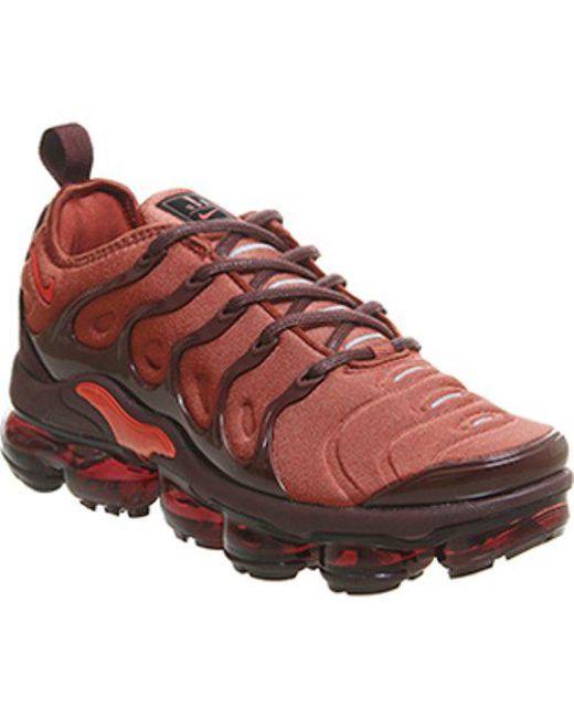 124fb32349df Nike Air Vapormax Plus Sneakers in Red - Save 37% - Lyst
