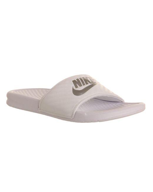 Nike   White Benassi Slider   Lyst