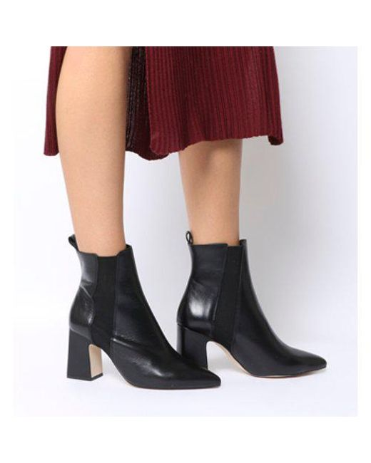 7822ab99e60 Office Aglow- Point Chelsea Boot in Black - Lyst