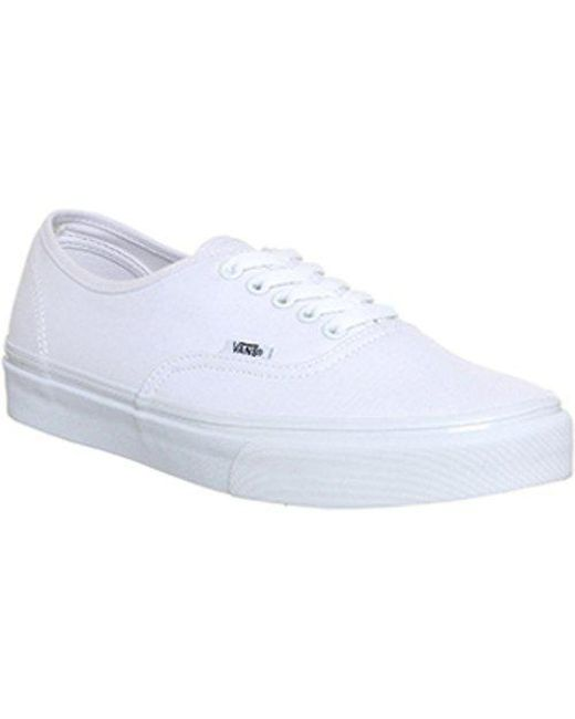 36470e0f865 Lyst - Vans Authentic in White for Men