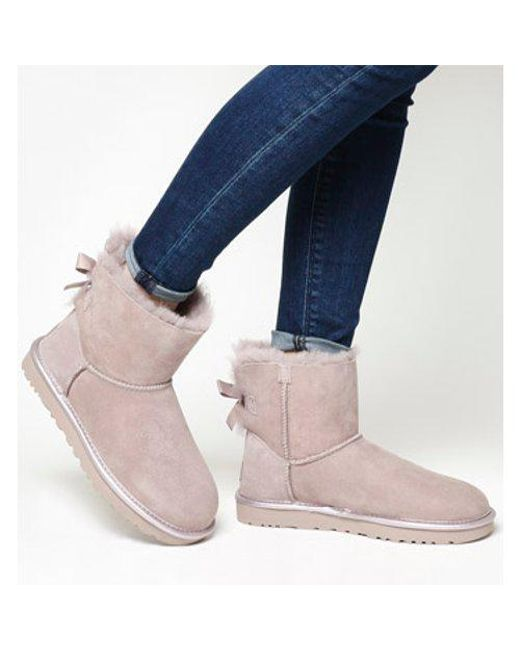 ugg mini bailey bow noir
