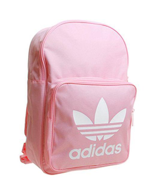 Lyst - adidas Classic Trefoil Backpack in Pink - Save 6% 0e8b19ebcb448