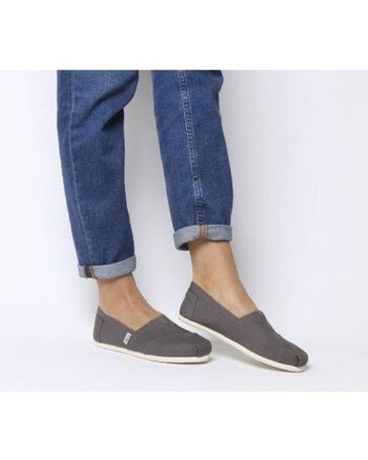 TOMS Gray Classic Slip On