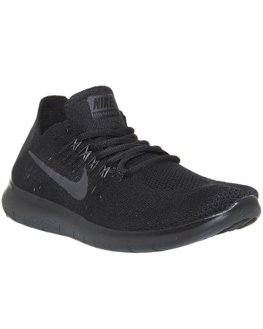 Nike | Black Free Run Flyknit for Men | Lyst