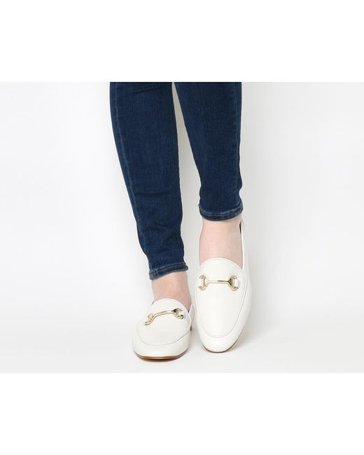Office | White Dapper Trim Loafers | Lyst