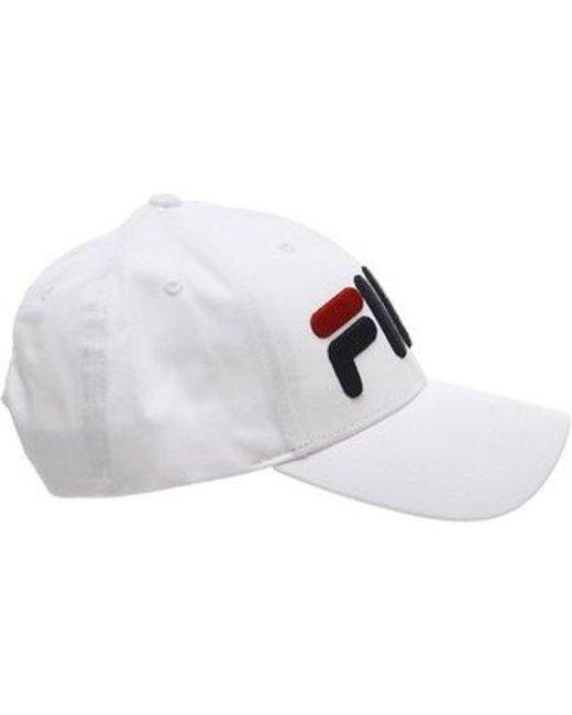 Fila White Mindblower Strapback Hat