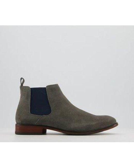 Office Gray Barkley 2 Chelsea Boots for men