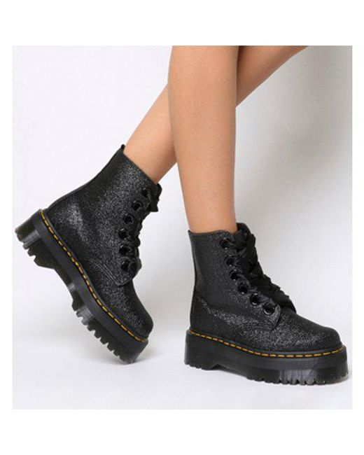 Lyst Dr Martens Molly Glitter Boot In Black