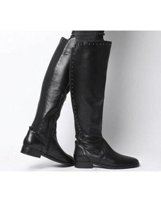 Office Black Kendra- Studded Rider Boot