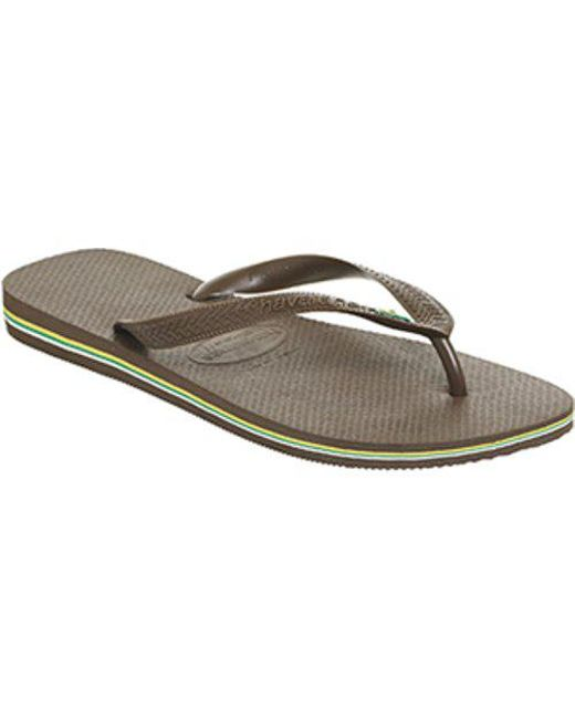 4af1c28874fe Havaianas Brazil Flip-flop in Brown for Men - Lyst
