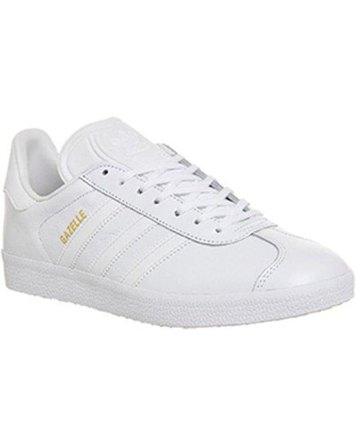 adidas Gazelle in White for Men - Lyst 2d2058a69