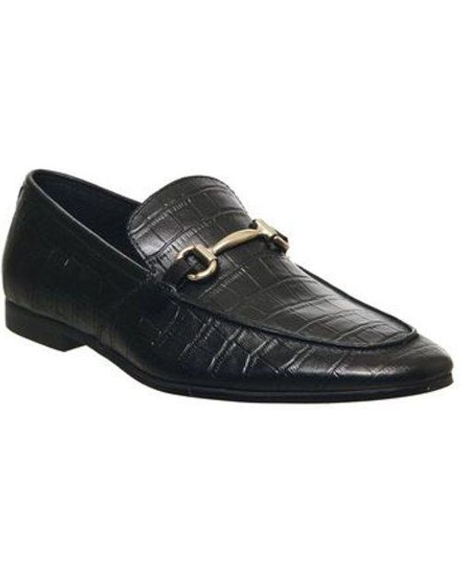 Office Black Lemming Snaffle Loafer for men