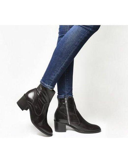 Office Brown Albury- Unlined Block Heel Boot E