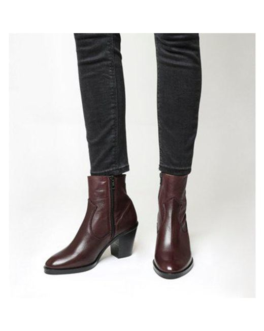 Office - Red Angie- Unlined Mid Heel Western Boot - Lyst