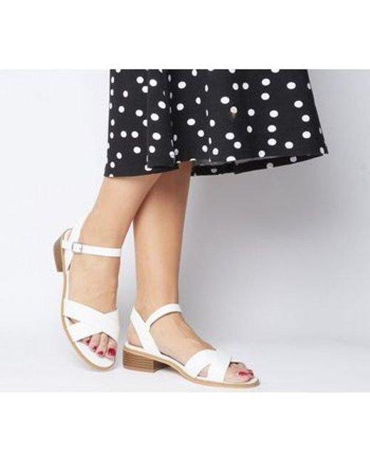 Office White Measure Casual Mid Sandal