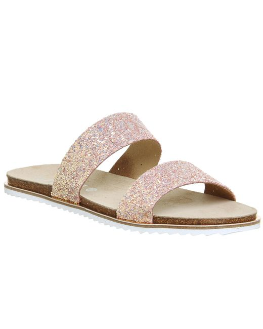 Office   Pink Sicily Double Strap Sandals   Lyst