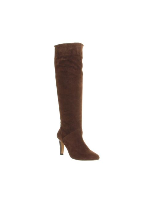 Office | Brown Nouveau Suede Slouch Boots | Lyst