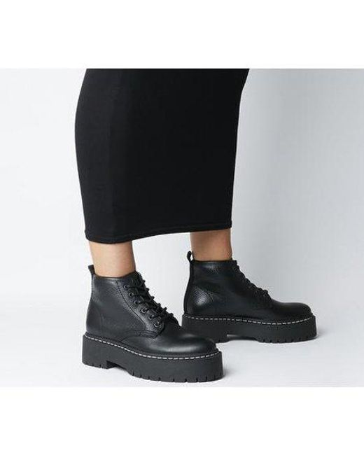 Absorb- Chunky Lace Up Boot in Black